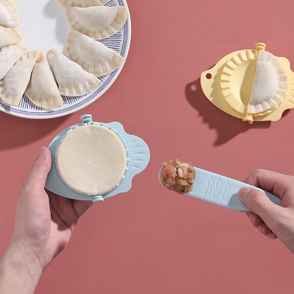 ¡Novedad! DIY herramienta para hacer albóndigas, molde de paja de trigo Jiaozi Pierogi, Clips de molde para Dumpling, moldes de repostería, accesorios de cocina