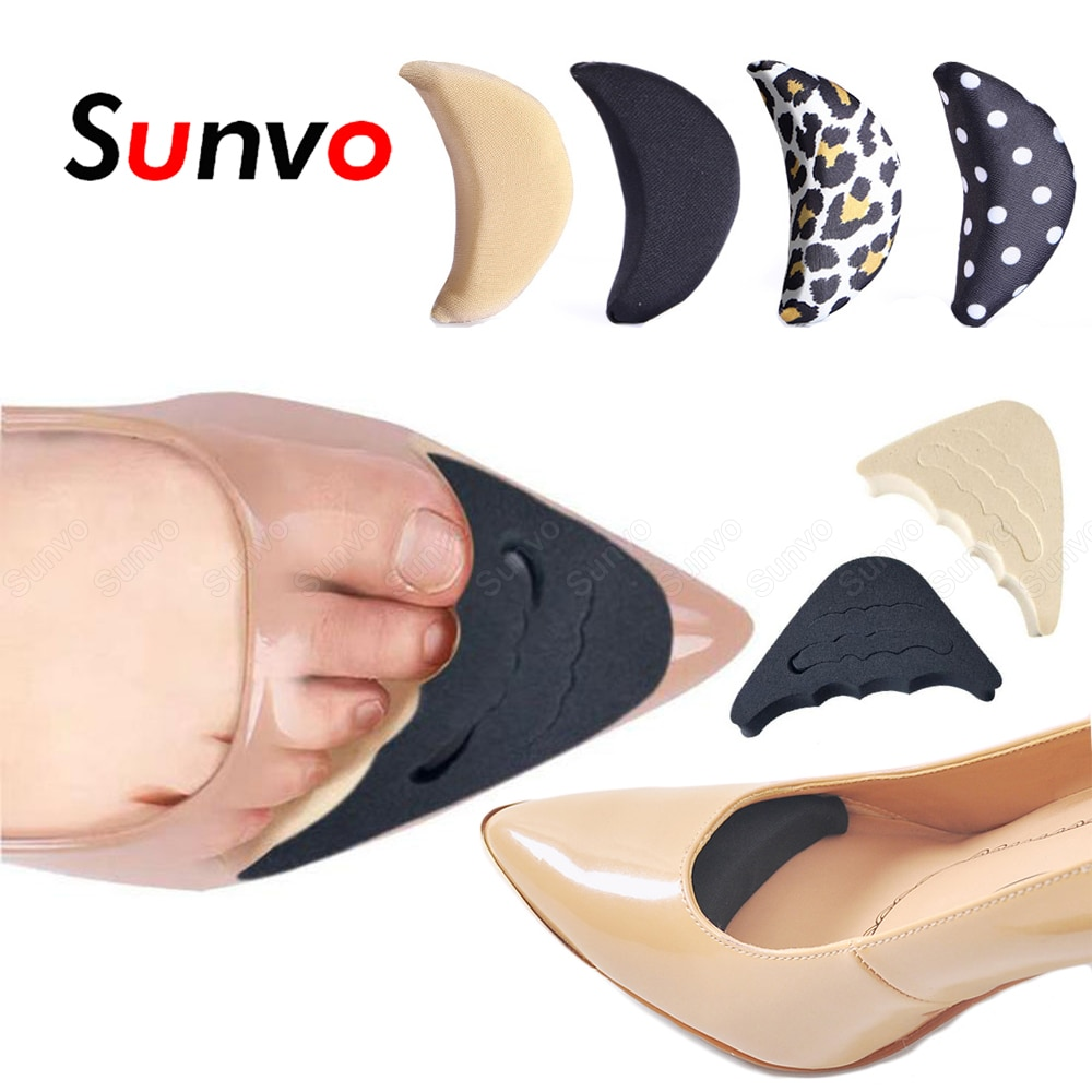 Sunvo Forefoot Inserts Pads for Women Shoes Filler High Heels Toe Plug Protector Anti-Pain Insoles f