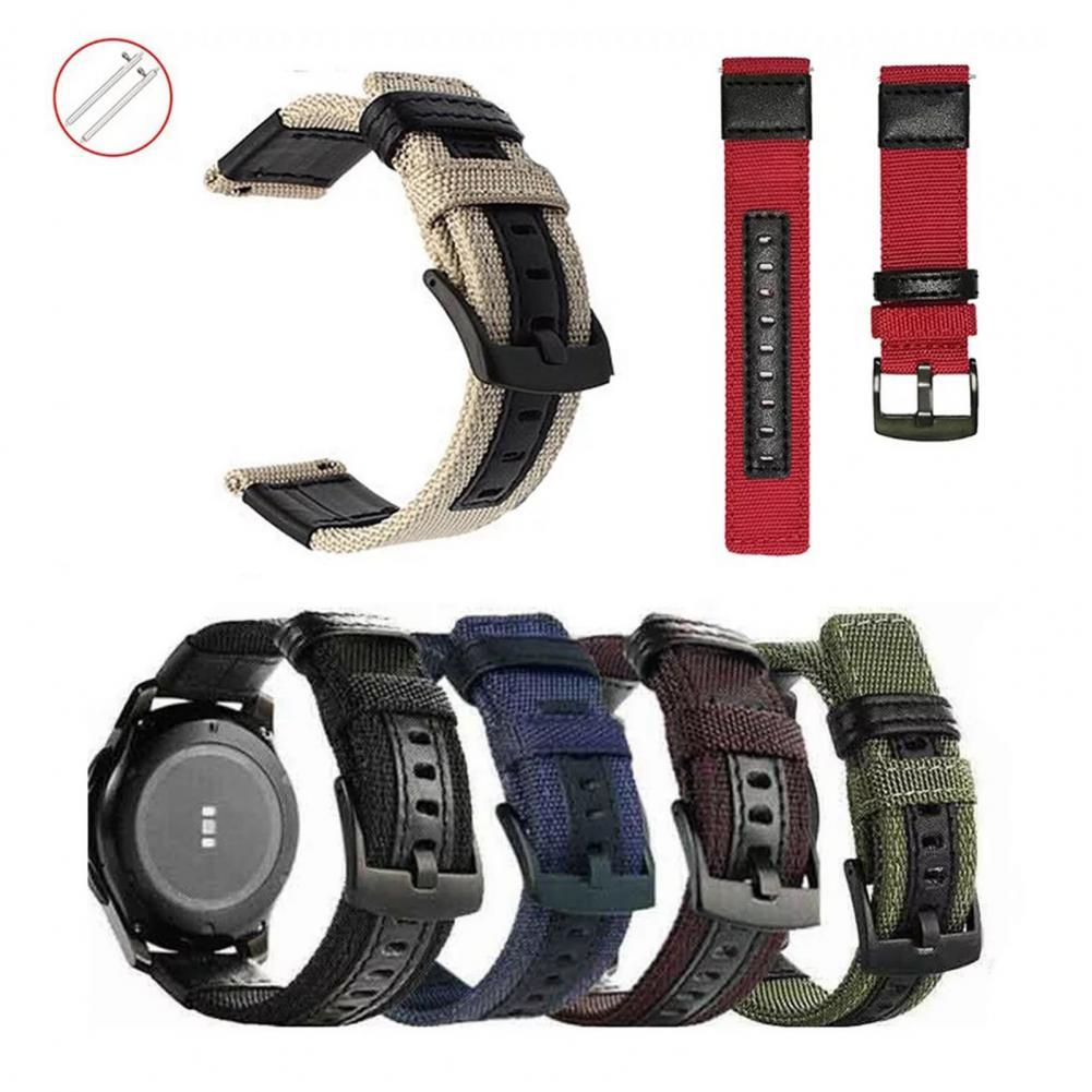 20/22mm Nylon Woven Watch Band Wristband Wrist Strap Replacement wristband for Samsung S3 Wearable Devices Smart Accessories smart watches mykronoz zetielpg wearable devices wrist watch accessories