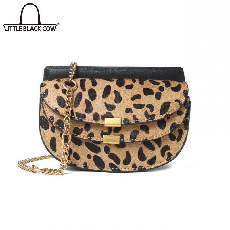Bolsas de Corrente para Mulheres do Vintage Bolsa de Ombro Novo Leopardo Sela Bolsa Estilo Coreano Moda Elegante Crossbody Axila Design Casual