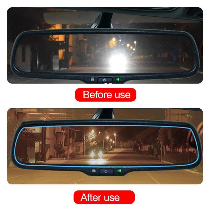 Película anti nevoeiro para carro, 2 peças adesivo anti-reflexo, à prova d água, para espelho de carro, membrana acessórios automotivos,