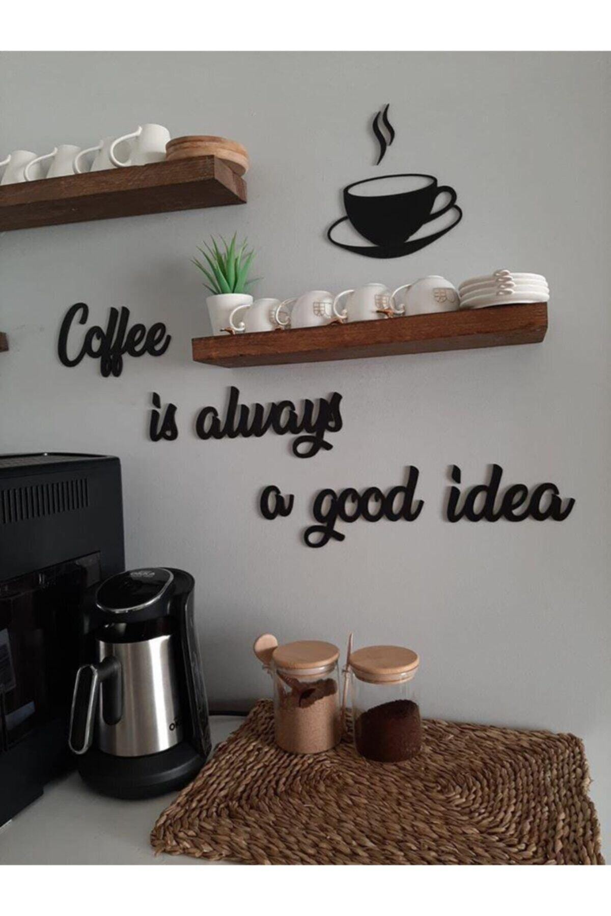 2021 New Model Coffee Is Always... Wooden Graffiti-Indispensable Decor For Cool Coffee Lovers Of High Quality coffee lovers