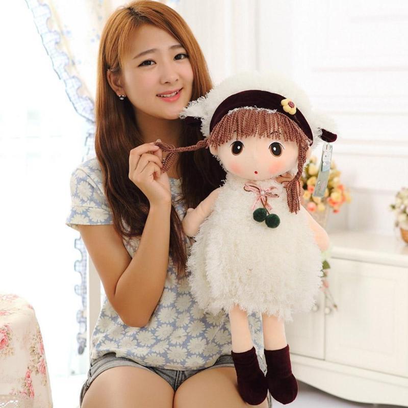 Cute Soft Girls Stuffed Dolls Rag Doll Cute Plush Model For Children Birthday Christmas Gift Lovely Dolls Toys For Kids  20/38/4