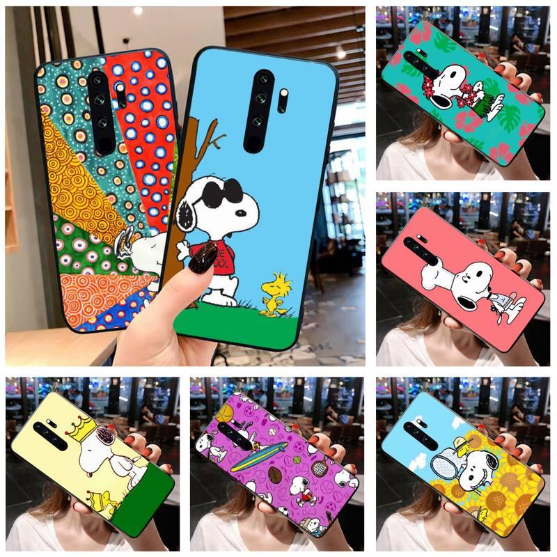 Cacahuetes Charlie Brown perro beagle DIY cubierta de caja de teléfono Shell para Redmi Note 9 8 8T 8A 7 6 6A ir Pro Max Redmi 9 K20 K30 Pro