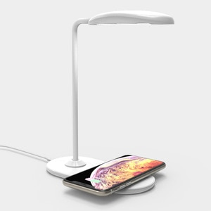 Hot 15W LED Desk Lamp with phone Wireless Charger USB Charging Port Dimmable Eye-Caring Office Lamp for Work Folding Design