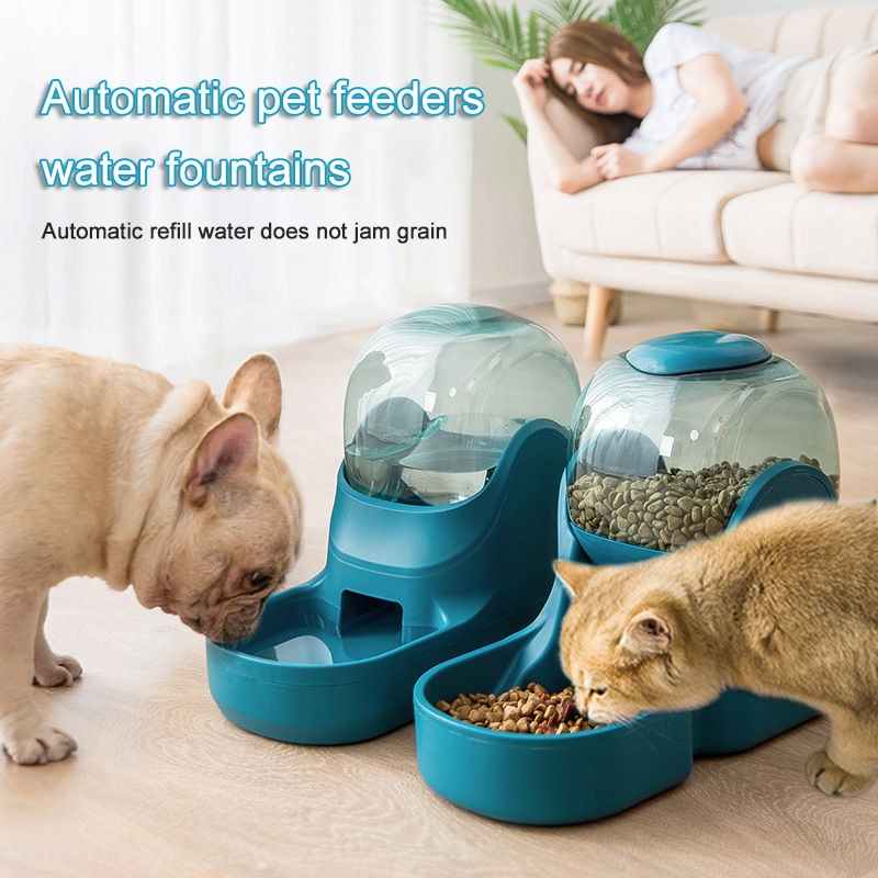 Pet Dog And Cat Drinking Fountain Automatic Drinking Machine Dog And Cat Feeder Drinking Basin Medium-Sized Dogs Cat Food Bowl