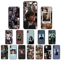 babaite aidan gallagher number five silicone black phone case for iphone 11 pro max x xs max 6 6s 7 8 plus 5 5s 5se xr se2020
