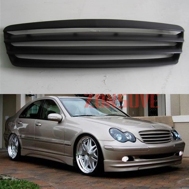 غطاء شبكة السباق من ألياف الكربون لسيارات Benz C-Class ، مجموعة غطاء شبكة السباق ، ملحقات السيارة ، لسيارات mercedes W203 من 2001 إلى 2007