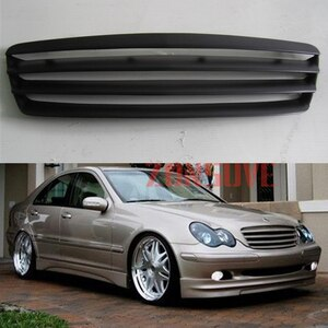 Use For Benz C-Class Sedan W203 2001--2007 Year Carbon Fibre Refitt Front Center Racing Grille Cover Accessorie Body Kit