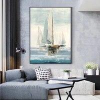 100  peint a la main abstraite voile Art peinture a lhuile sur toile mur Art sans cadre image pour salon maison bureau deco cadeau
