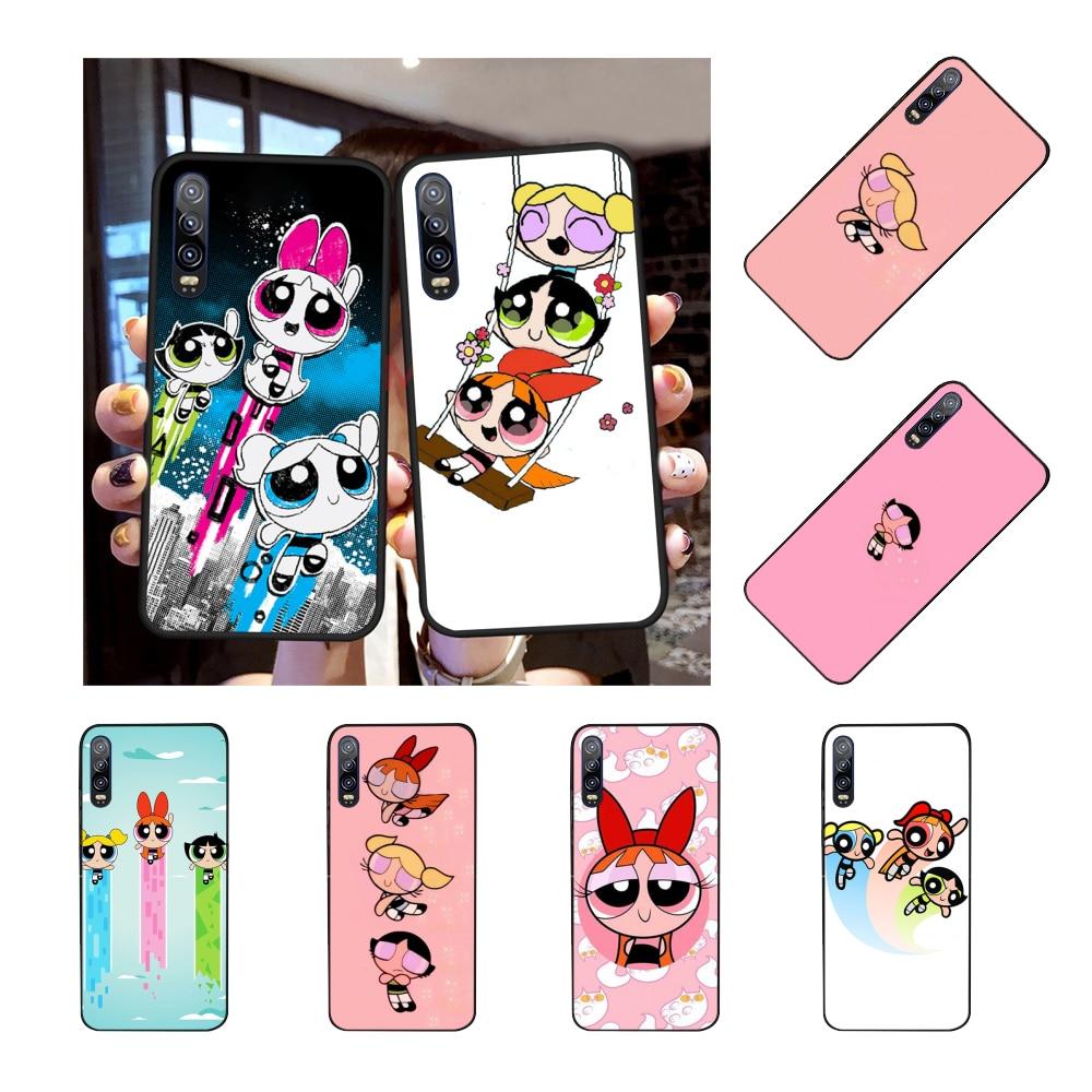 NBDRUICAI el poder puff Powerpuff chicas negro Funda de teléfono de TPU blanda cubierta para Huawei P30 P20 P10 P9 P8 Mate 20 10 Pro Lite