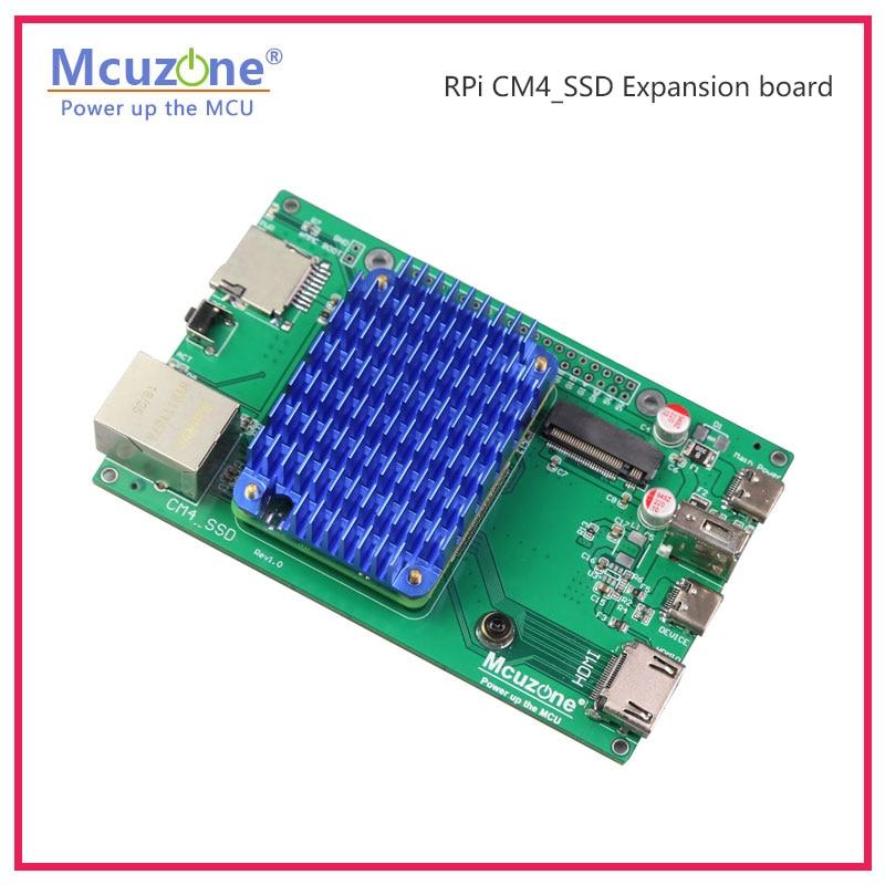 Raspberry Pi CM4 CM4 CM4 _ SSD Плата расширения, алюминиевый чехол NVME M.2 USB HDMI
