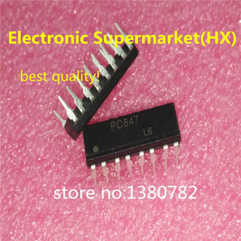 شحن مجاني 50 قطعة/السلع PC847 847 DIP16 IC أفضل جودة