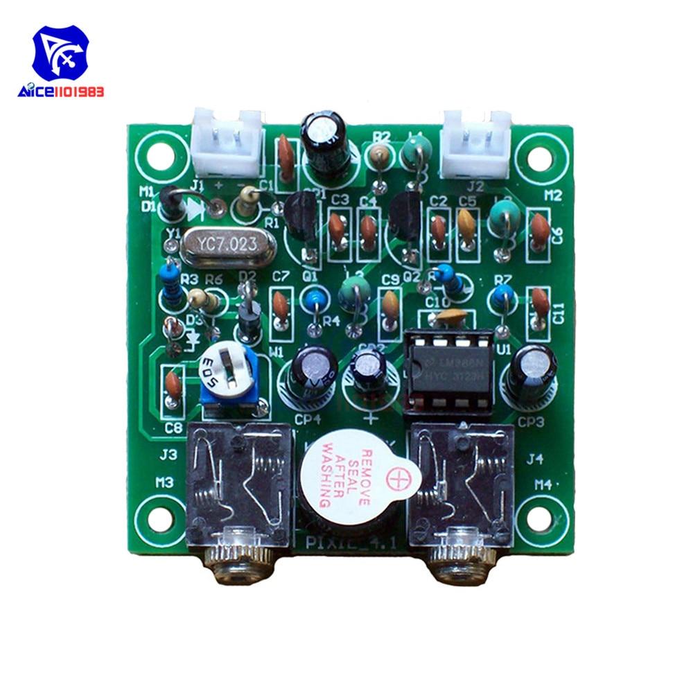 Diymore QRP Pixie 4,1 DIY Kit 40M CW Ham Radio Kurzwellen Sender Empfänger Modul 7,023 MHz-7,026 MHz mit Summer Transceiver