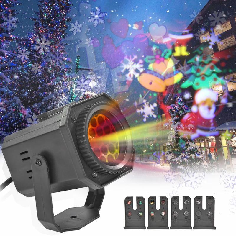 Proyector LED De copo De nieve De Navidad, decoración De Fiesta De...