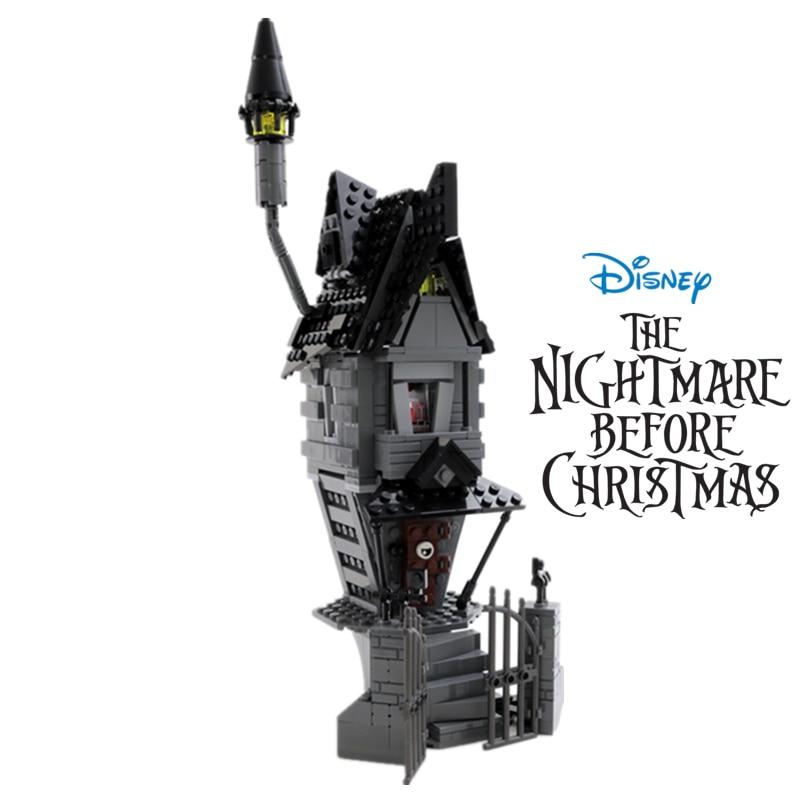 Disney, 427 шт., дом Джека Скеллингтона-фигурки «Кошмар перед Рождеством», строительные блоки, игрушки «сделай сам», кирпичи, подарок для детей