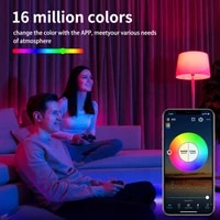 Newest WiFi Smart Bulb Work With Alexa RGB Corlorful Dimmable Timer Function Magic Light Or Remote Controller Lamp Smart Home