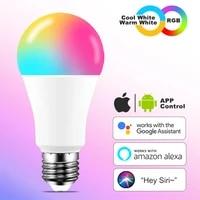 Ampoule LED intelligente  couleur neon  wi-fi  E27 B22  lampe Siri  commande vocale  Alexa  Google Home Assistant  application a distance  teinte magique  rvb blanc