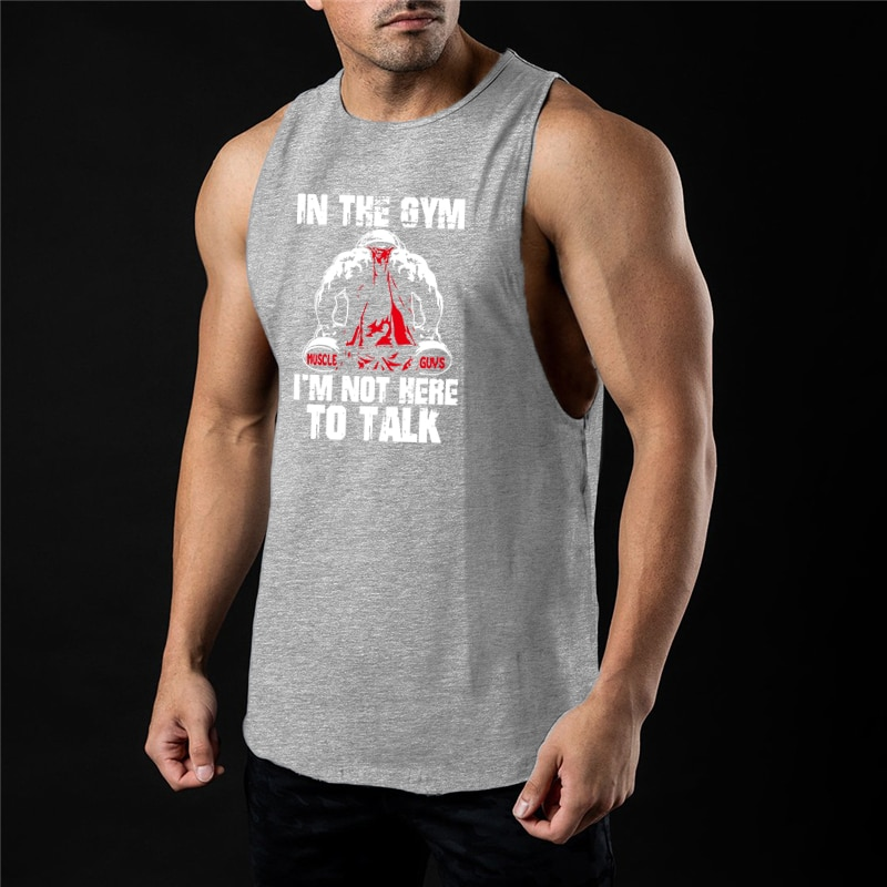 Bodybuilding Sports Tank Tops Men Gym Fitness Workout Sleeveless Shirt Male Stringer Singlet Summer
