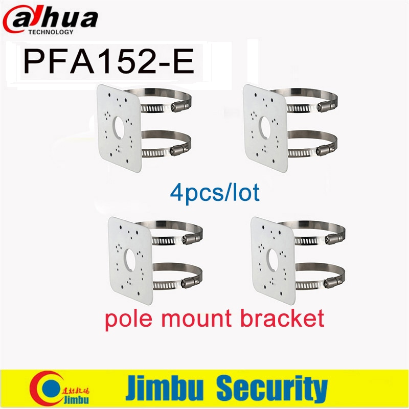 Dahua, soporte de montaje en poste, PFA152-E, 4 unids/lote Material aluminio, diseño limpio e integrado, cámara IP