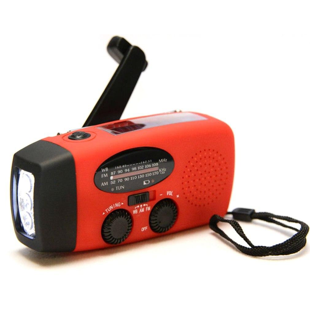 Outdoor Solar Handkurbel Radio Mit Taschenlampe Lade Radio Professional Mode Tragbare Saubere Energie