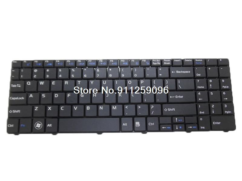 لوحة مفاتيح الكمبيوتر المحمول ل NETSYS IR75-461 IS55-441 UX I5-2467M NB-5500 الإنجليزية الولايات المتحدة الأسود الجديد