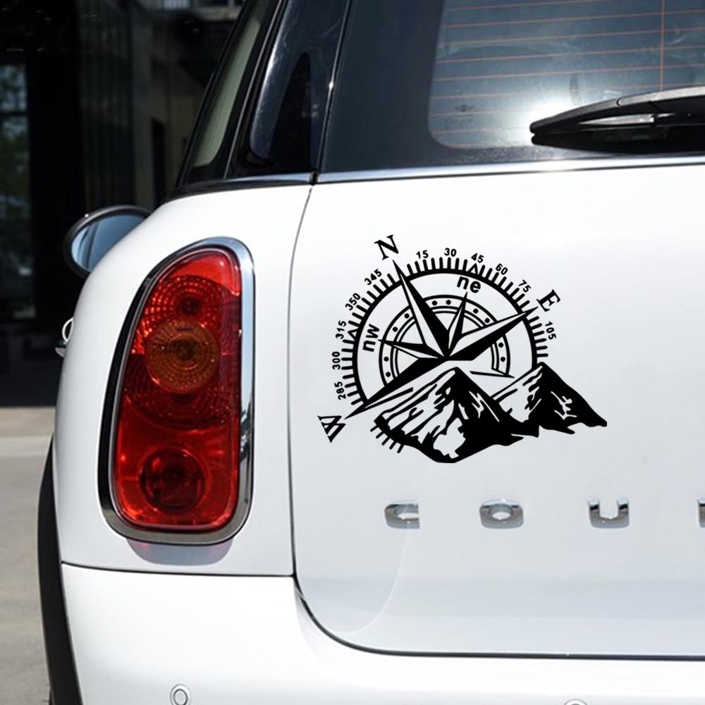 Hot Sale Car stickers Mountain Compass for the car body window sticker car accessories car decoratio