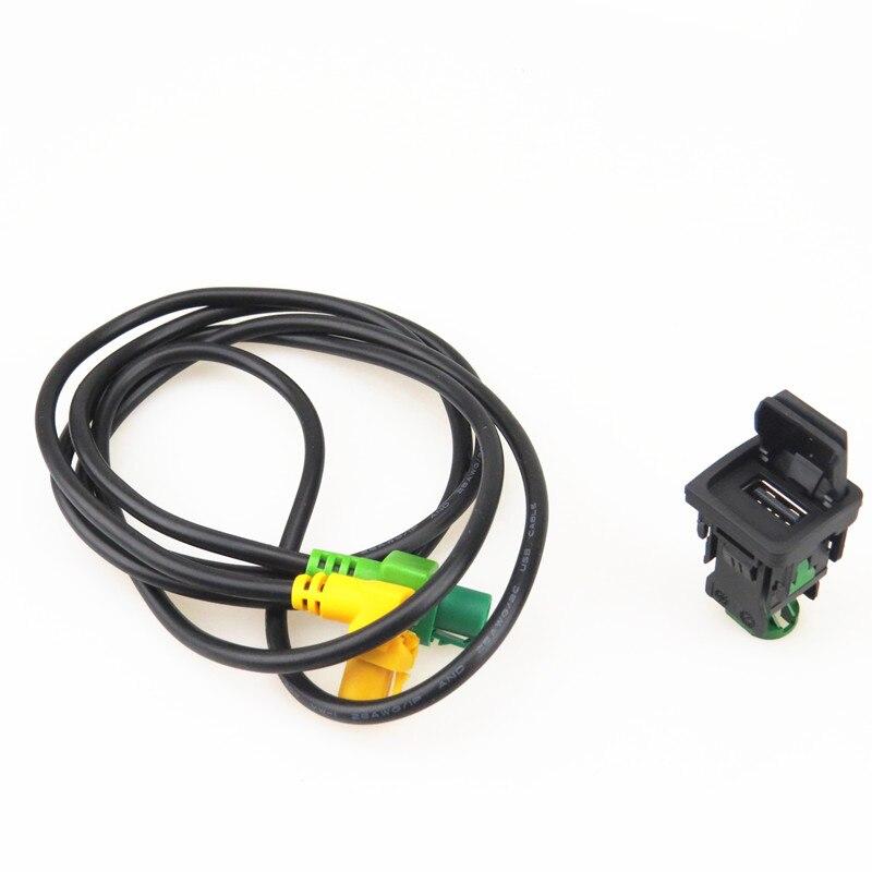 AZQFZ RCD510 RNS510 USB câble faisceau de câbles bouton de commutation ensemble dadaptateur pour VW Jetta 5 Golf MK5 MK6 Passat B6 B7 Touran 5KD035726A