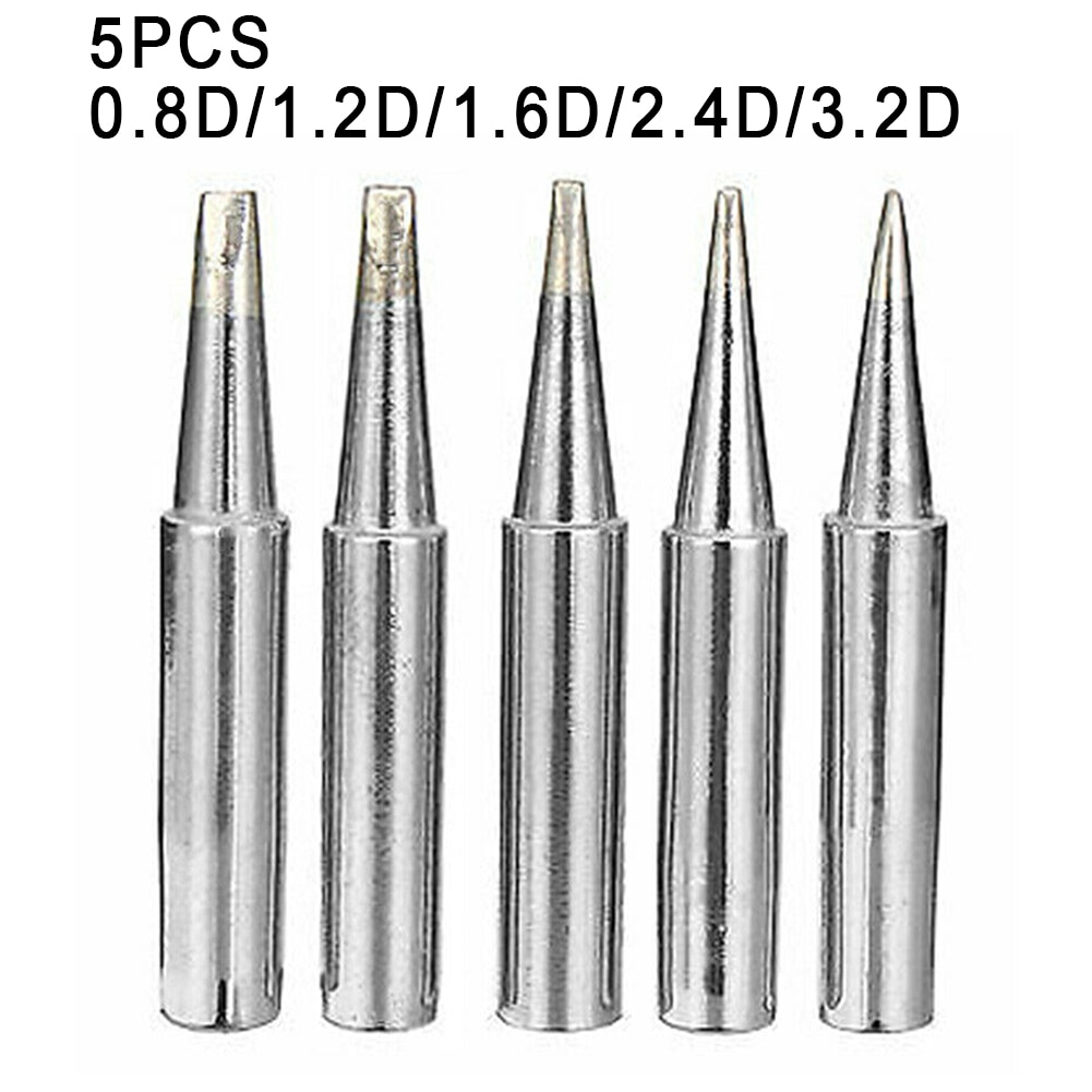10pcs lead free 900m t i soldering iron tips for hakko 907 933 852d 936 soldering station electric replaceable welding heads 5Pcs 900M-T Soldering Iron Tips 0.8D/1.2D/1.6D/2.4D/3.2D Lead-free Copper Welding Tip For Hakko Soldering Rework Station 907 933