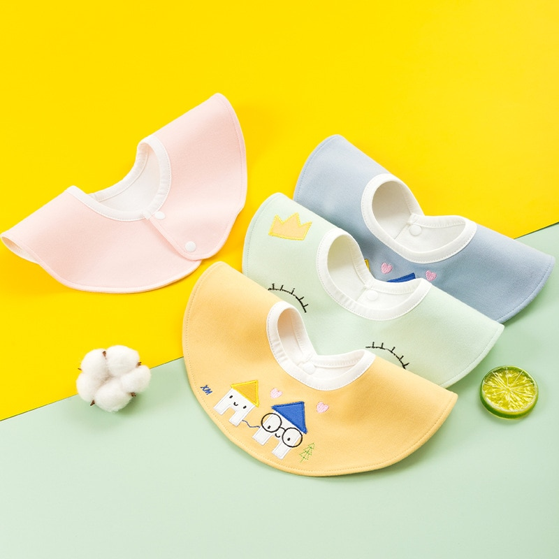Infant Newborn Bibs Kid Toddler Dinner Feeding Products Cotton Burp Cloths Baby Girl Boy Saliva Towe