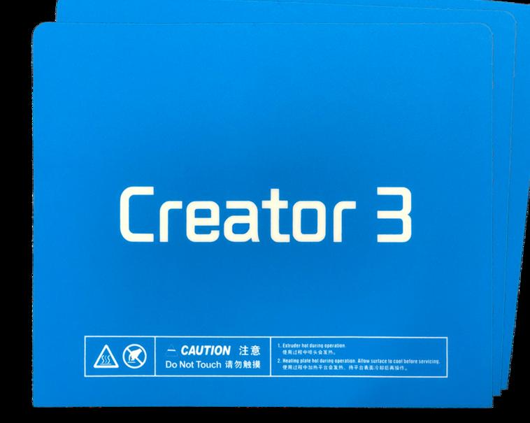 Funssor 5 قطعة Flashforge Creator3 بناء سطح ورقة ملصق