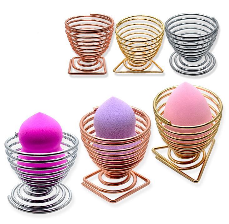 Soporte de esponja de maquillaje soporte de exhibición de soplo cosmético forma de calabaza esponja de secado de huevo soporte de soplo de maquillaje SN313