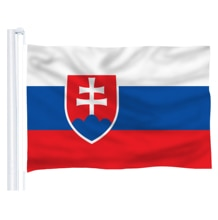 DFLIVE Slowakije Land Vlag 3x5 FT Gedrukt Polyester Fly 90x150 CM Slowaakse SK Nationale Banner
