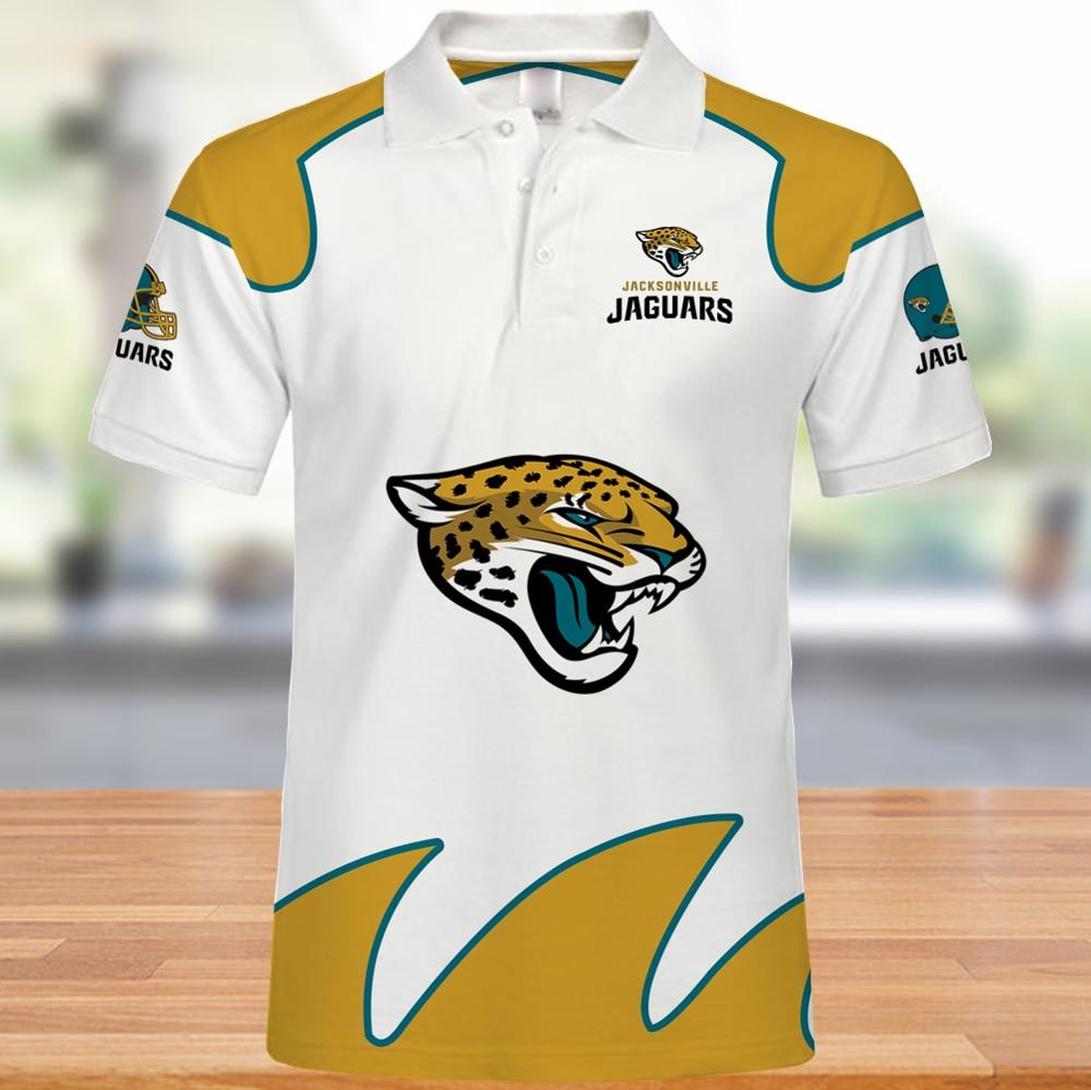 Nueva moda verano Jacksonville hombres de manga corta Vs Rugby Wear Polo-Shirts Jaguars 3d impreso de talla grande Tops