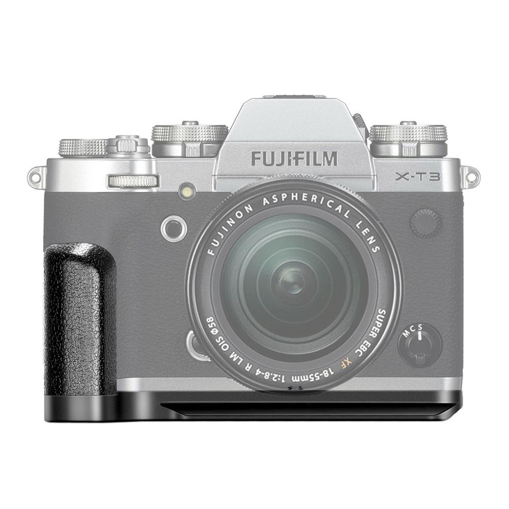 Neewer substituição para GB-XT3 qr suporte de placa MHG-XT3 substituição para fujifilm câmera mirrorless X-T3 liga alumínio aperto da mão