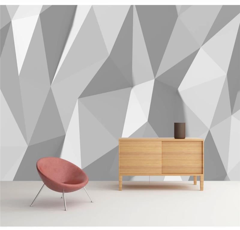 Custom wallpaper 3D photo wall European simple three-dimensional creative geometric pattern TV background covering 8d