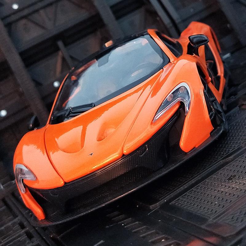 1:24 McLaren P1 سوبر كار سيارة معدنية لعبة مجسمة سبيكة الديكور لجمع عيد ميلاد يعرض الاشياء الرائعة الكبار الأطفال هدية