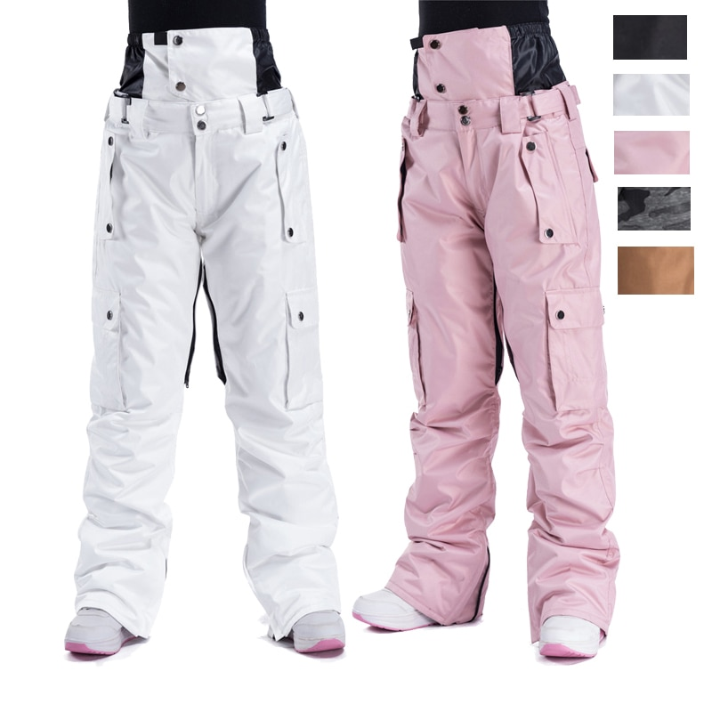 2021 High Quality Ski Pants Men Women Windproof Waterproof Warm Couple Snow Trousers Winter Ski Snowboard Pants Waist Protection