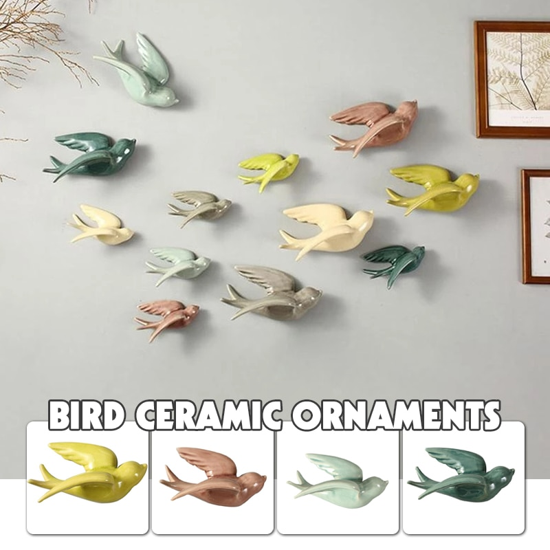AliExpress - 1 Pcs Nordic Colorful Swallows Wall Mounted Hanging Decoration Crafts Ceramic Wall Mount Hanging Ornaments For Home Wall Decor