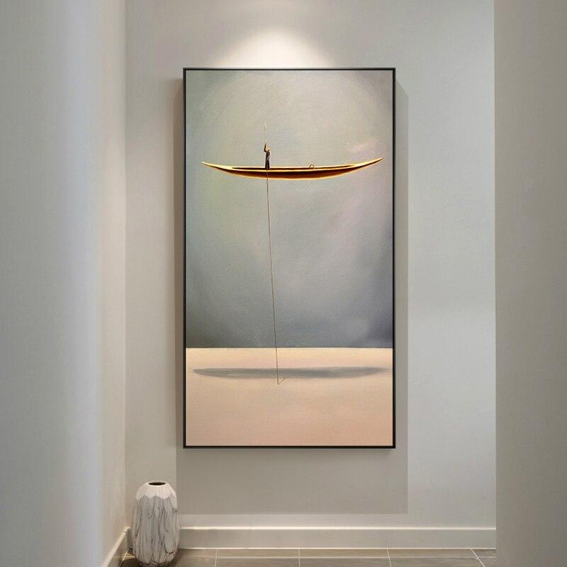 Neue Minimalistischen Stil Abstrakte Boot Natürliche Landschaft Wand Kunst Bilder Malerei Wand Kunst für Wohnzimmer Wohnkultur (Keine rahmen)