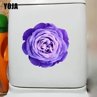 YOJA 23 9    22 7CM Superbe Fleur Chambre Stickers Muraux Mode Accueil Salle De Bains Toilette Decalcomanies T1-3167