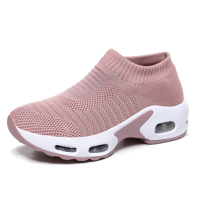 New Style Air Cushion Sports Shoes Ladies Mesh Breathable Outdoor Jogging Shoes Casual Fashion Women
