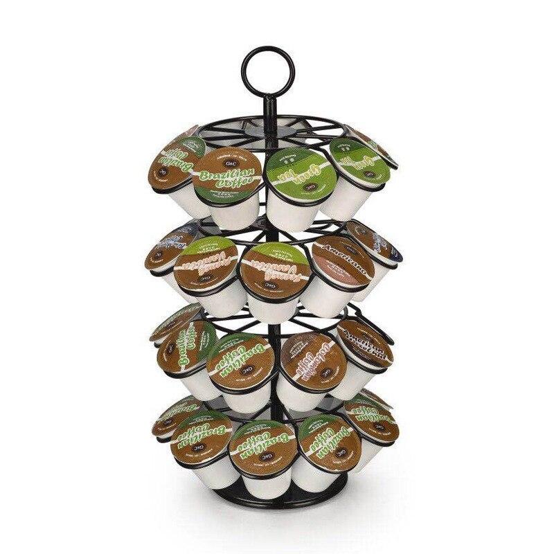 القهوة كبسولات حامل ل K-CUP/دولتشي غوستو ، يحمل 36 قطعة القهوة كبسولات ، 360-درجة دوران ، مسحوق المغلفة المطبخ التبعي