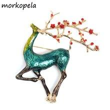 Morkopela Elk orignal Animal broche broche Vintage broches et broches bijoux en métal grand broche accessoires pour les femmes