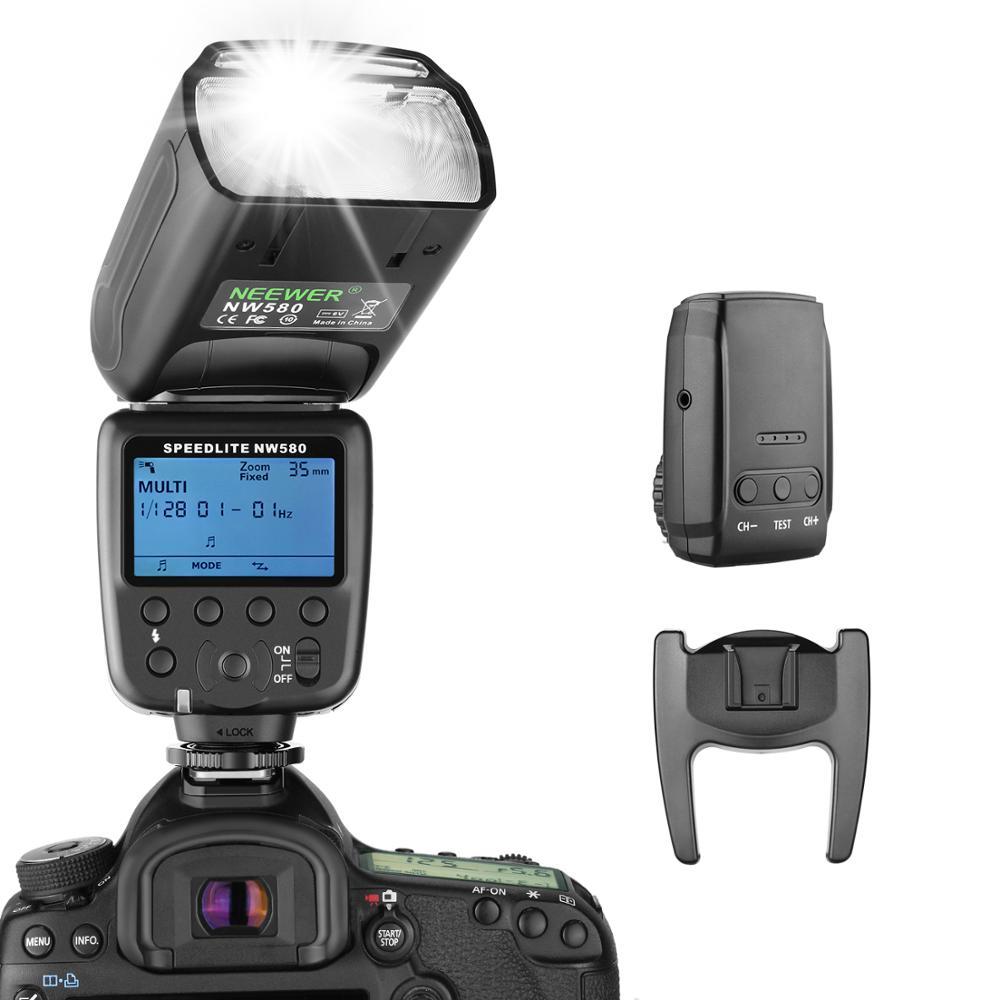 Neewer NW580 فلاش لاسلكي Speedlite لكانون نيكون سوني باناسونيك أوليمبوس وغيرها من كاميرات DSLR مع معيار الحذاء الساخن