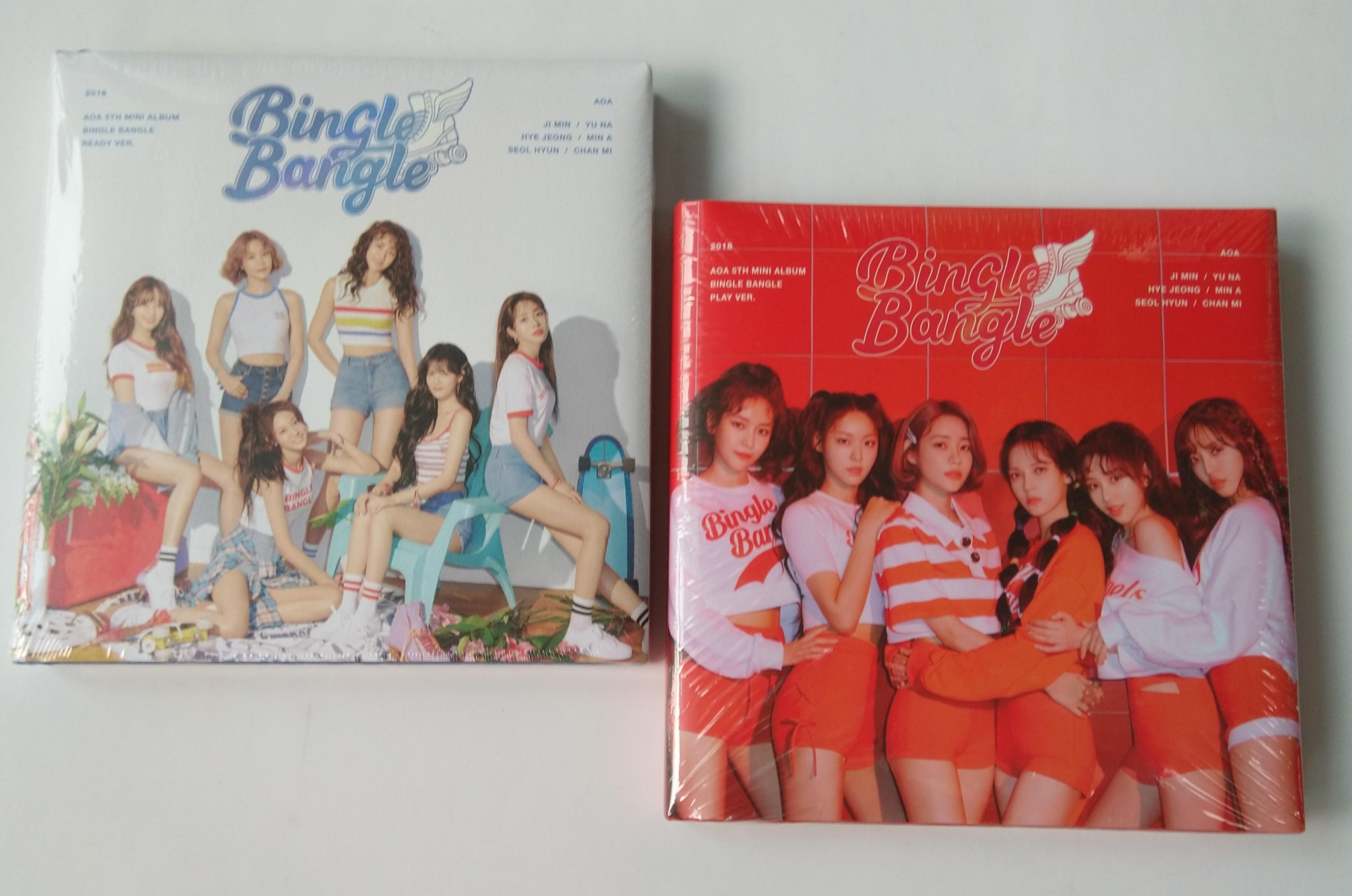 mykpop 100 original oficial aoa mini 5 bingle conjunto de album de pulseira cd sa19061704