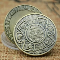 mayan track aztec calendar commemorative coin non monetary forecast collection gift mexico prophecy american silver collection