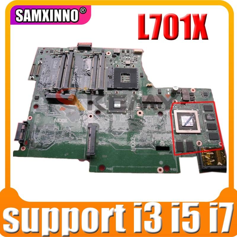 100% العمل ل dell XPS L701X اللوحة CN-053JR7 053JR7 DAGM7BMBAF0 اللوحة HM55 DDR3 دعم i3 i5 i7 الجيل الأول