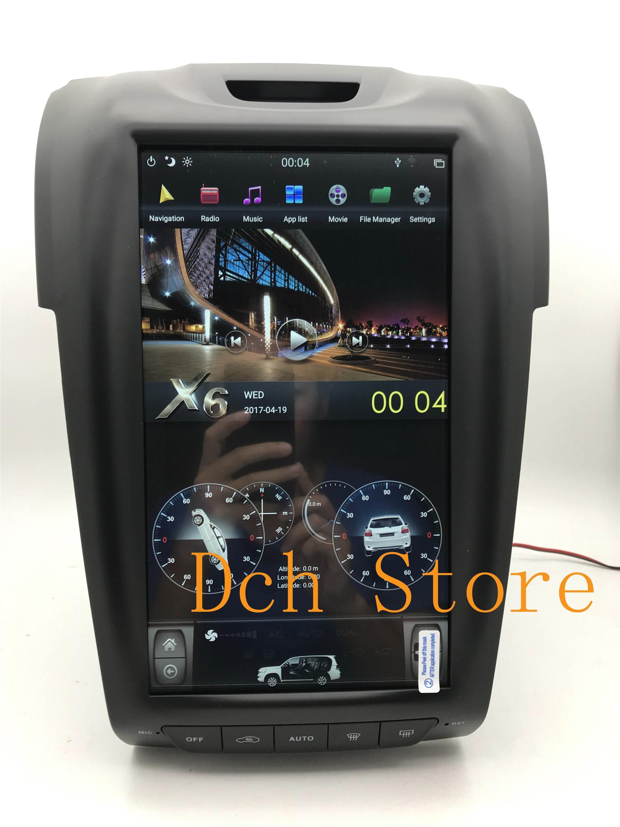12,1 Vertical estilo tesla Android 9,0 reproductor de DVD del coche de navegación GPS radio para ISUZU DMAX DMAX MUX 2012- Chevrolet S10 ESTÉREO
