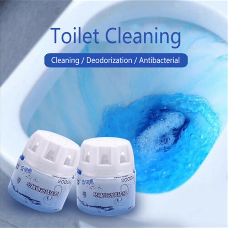 New Autoile Automatic Toilet Cleaner Magic Flush Bottled Helper Blue Bubble Cleaning